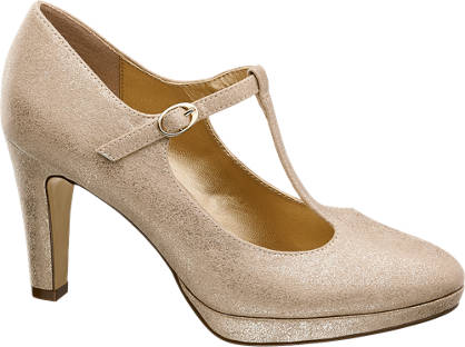 Graceland T-Spangen Pumps gold