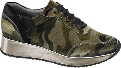 Catwalk Terepmintás bársony sneaker