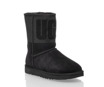 Ugg UGG W Classic Short boot donna nero