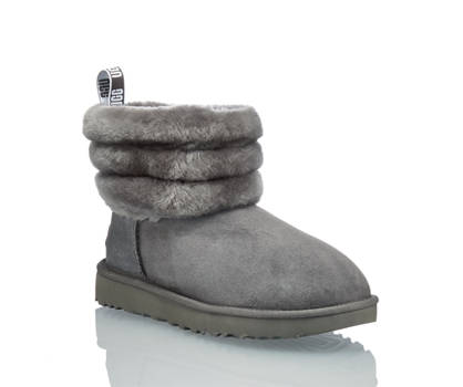 Ugg UGG W Fluff Mini Quilted Damen Boot Grau