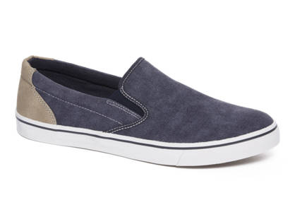 Venice Blauwe slip-on canvas