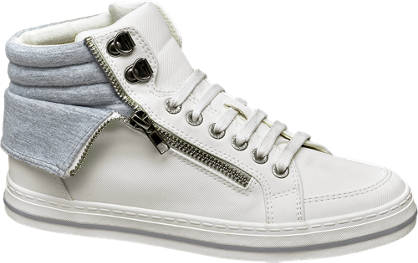 Venice Witte sneaker ritssluiting