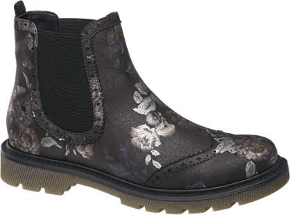 Catwalk Virágmintás chelsea boot