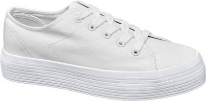 Vty Witte sneaker plateauzool