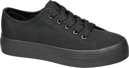 Vty Zwarte sneaker plateauzool