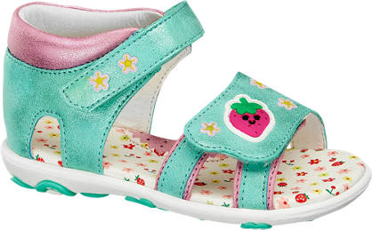 Cupcake Couture Zöld csillámos babaszandál