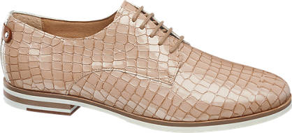 5th Avenue Reptile Print Lace-up Shoes