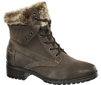 5th Avenue Fur Lace Up Boot