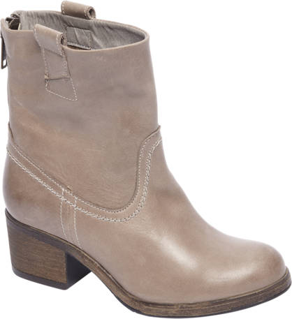 5th Avenue Taupe leren boot ritssluiting