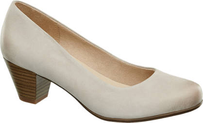 5th Avenue Taupe leren pump blokhak