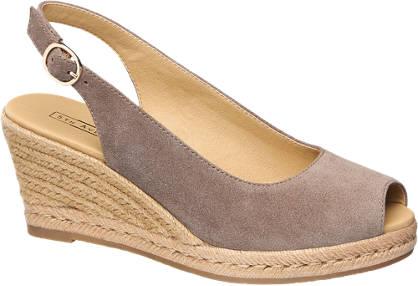 5th Avenue Taupe suède sandalette sleehak