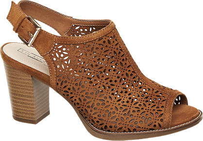 5th Avenue Laser Cut Slingback Sandals