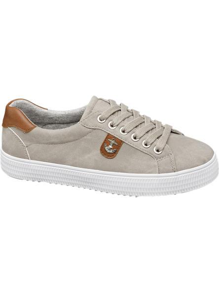 Graceland Lichtgrijze sneaker anker