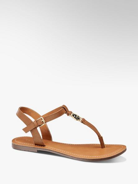 25238b23c61e3 Brązowe sandały damskie Tom Tailor - 1219084 - deichmann.com