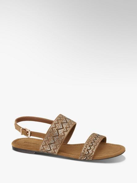Graceland Hnědé sandály Graceland