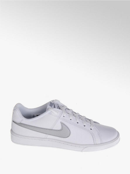 NIKE białe sneakersy damskie Court Royale ze srebrnym logo