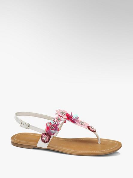 Graceland biało-różowe sandały damskie Graceland