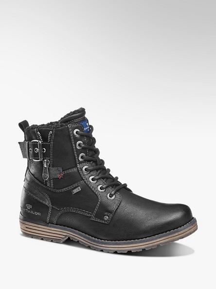 Tom Tailor Černá kotníková obuv Tom Tailor se zipem s TEX membránou