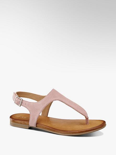 5th Avenue różowe sandały damskie 5th Avenue typu japonki