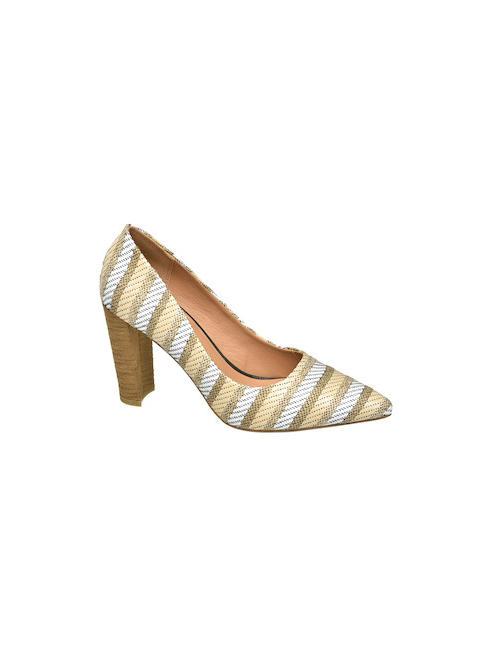 Catwalk Дамски шарени обувки с ток Catwalk