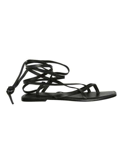 Vero Moda Дамски кожени черни сандали с връзки Vero Moda