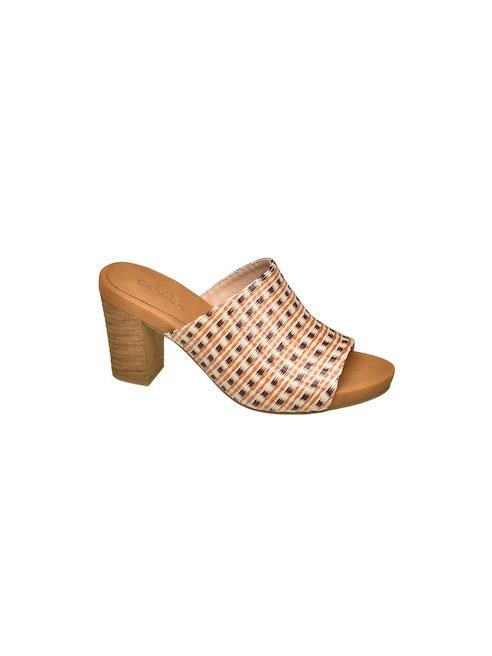 Catwalk Дамски кафяви чехли с ток Catwalk