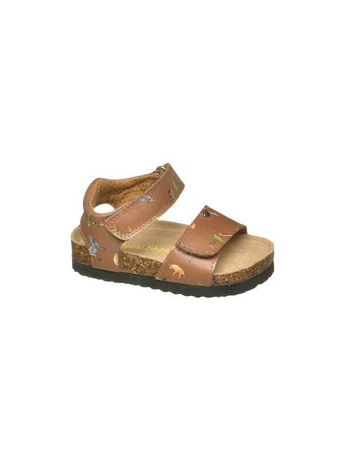 Bobbi-Shoes Детски кафяви сандали с животни Bobbi-Shoes