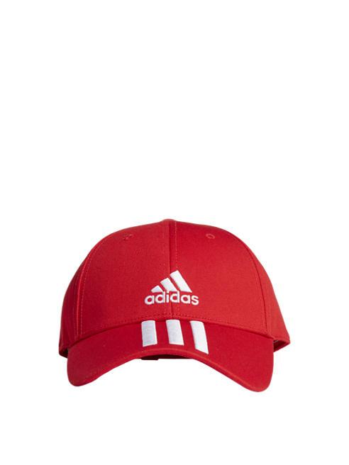 adidas Спортна червена шапка adidas BBALL 3S CAP CT