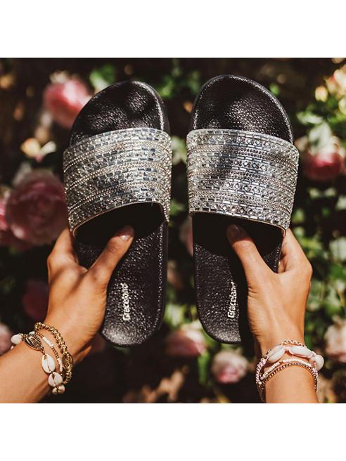 Graceland Zilveren slipper patroon