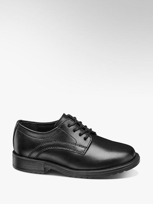 Bobbi-Shoes Leder Schnürschuhe in Schwarz