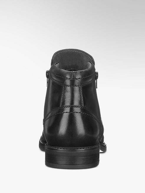 Claudio Conti Leder Boots in Schwarz