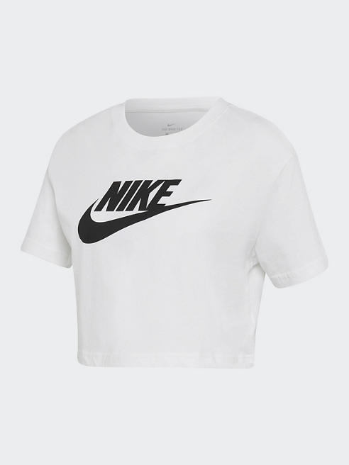 NIKE Crop T-Shirt in Weiß