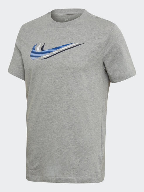 NIKE T-Shirt in Grau mit Logo-Print