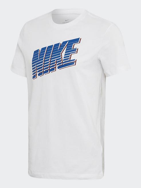 NIKE T-Shirt in Weiß mit Logo-Print