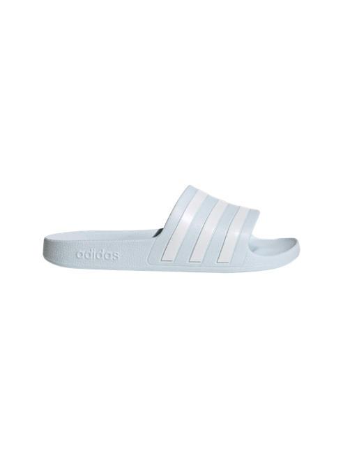 adidas Svetlomodré plážové šľapky Adidas Adilette Aqua