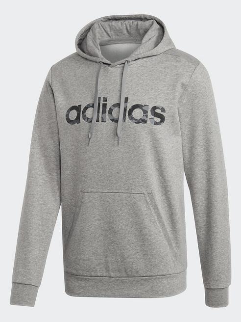 adidas Hoodie in Grau mit Logo-Print