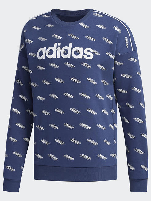 adidas Pullover in Blau mit All-Over Print