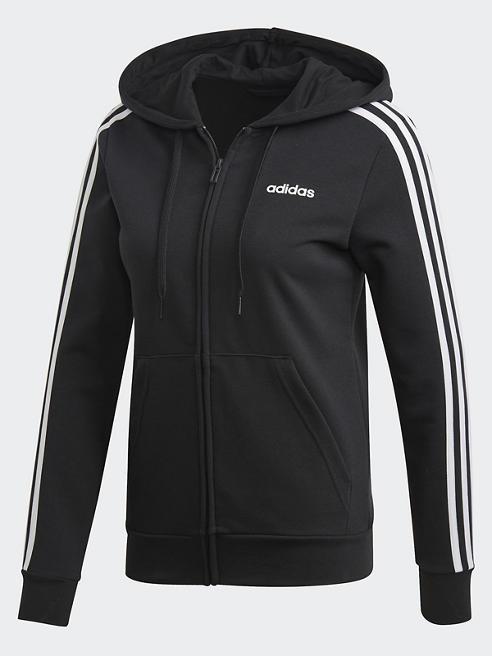adidas Sweatjacke in Schwarz mit Logo-Print