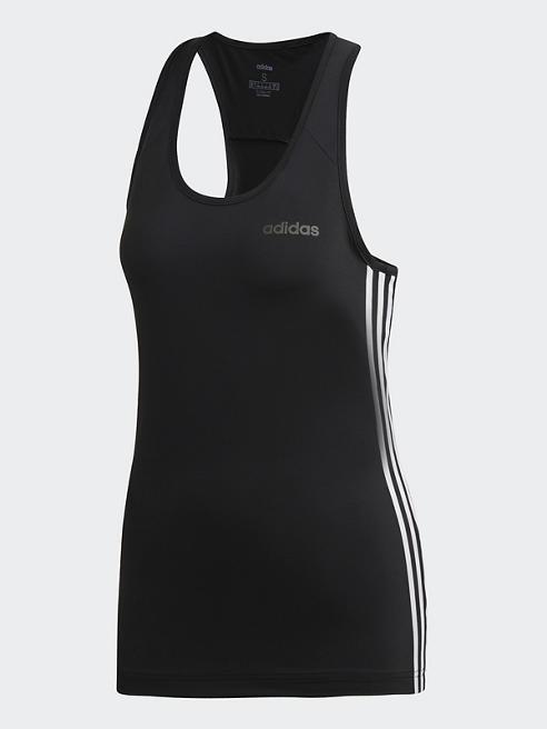 adidas Tank Shirt in Schwarz mit normalem Fit