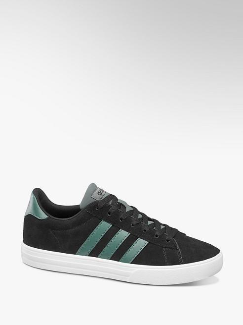 adidas czarne sneakersy męskie adidas Daily 2.0 na białej podeszwie