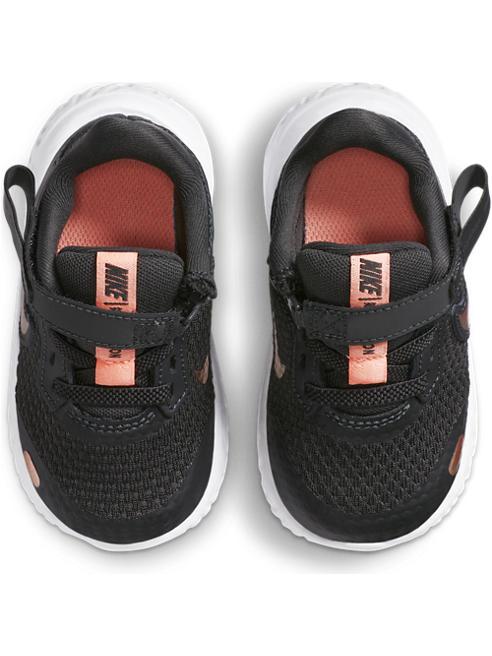 NIKE Čierne detské tenisky na suchý zips Nike Revolution 5 Flyease