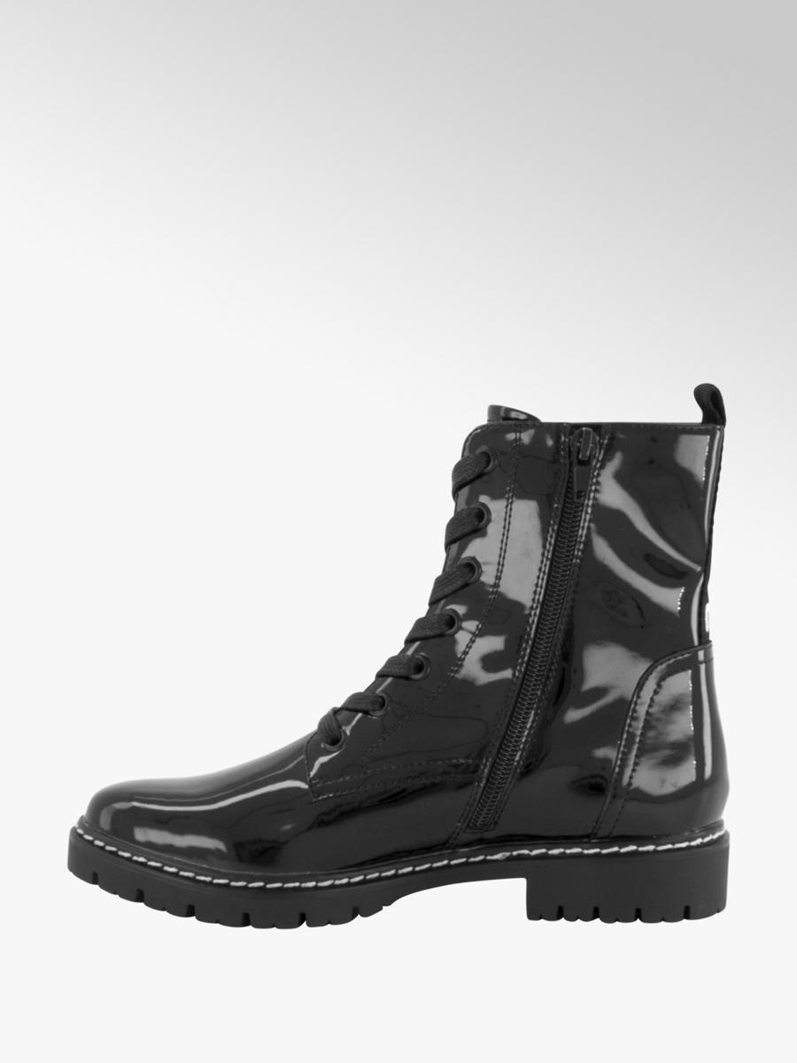 Zwarte veterboot lak Collecties Fall musthaves Dames
