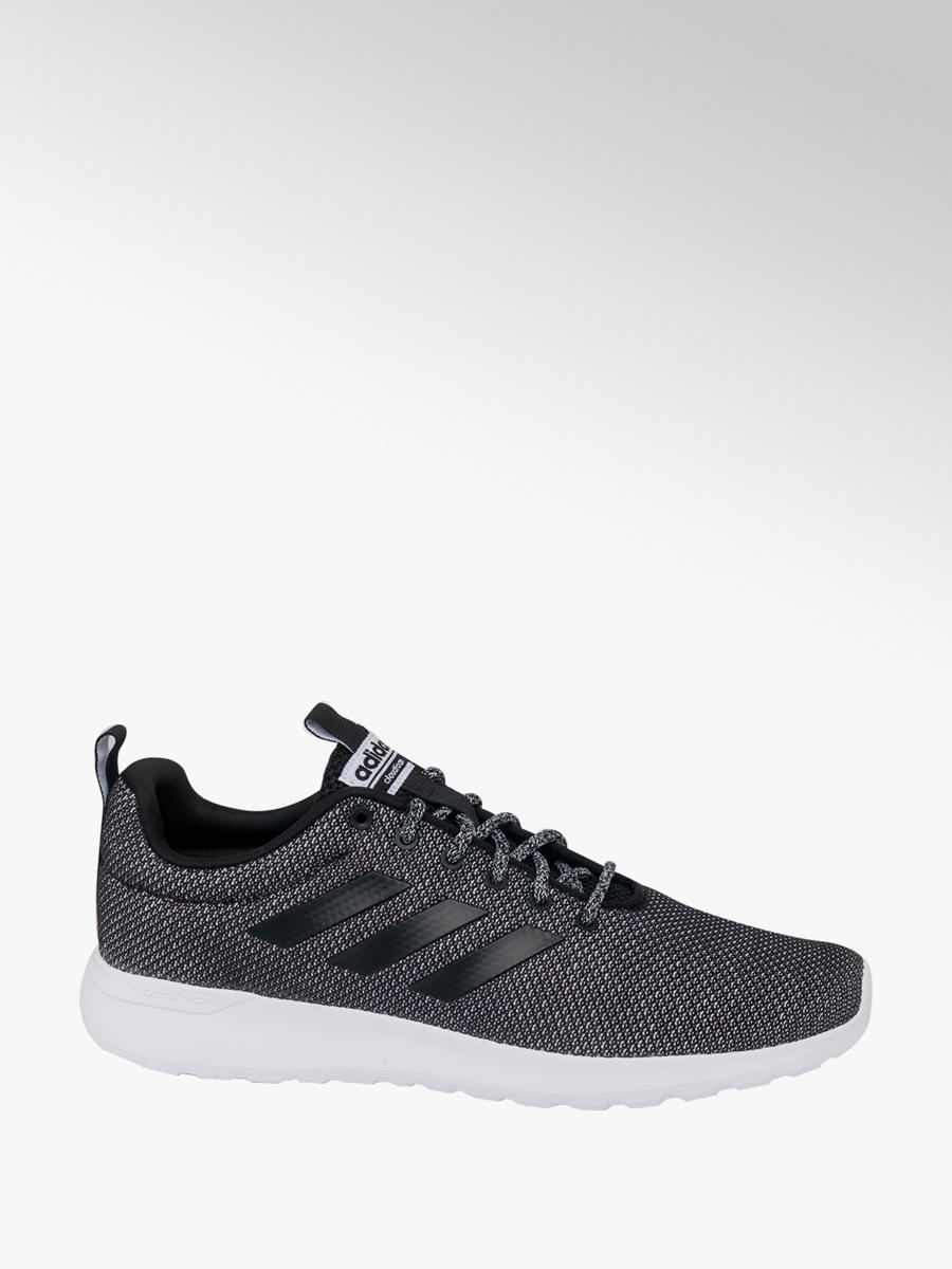 buy online 81360 1ca96 adidas Mens Adidas Lite Racer Grey  Black Lace-up Trainers
