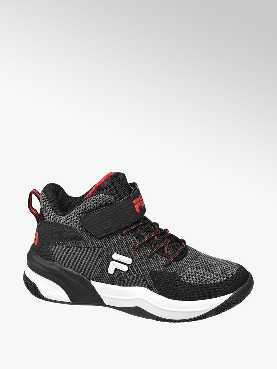 9add0bcfbbd Zwarte halfhoge sneaker - COLLECTIES - Trends