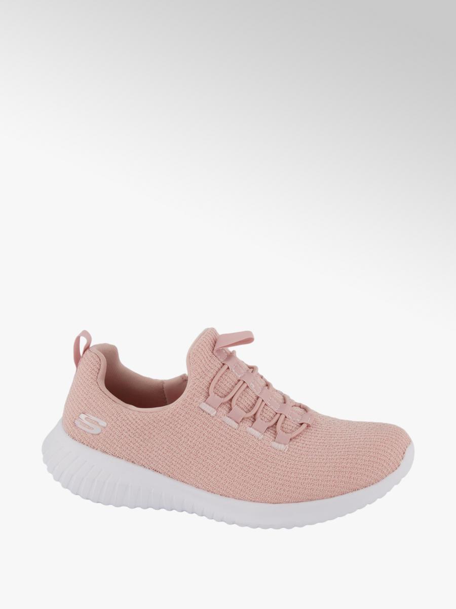 Lichtroze lightweight sneaker elastische veter Collecties