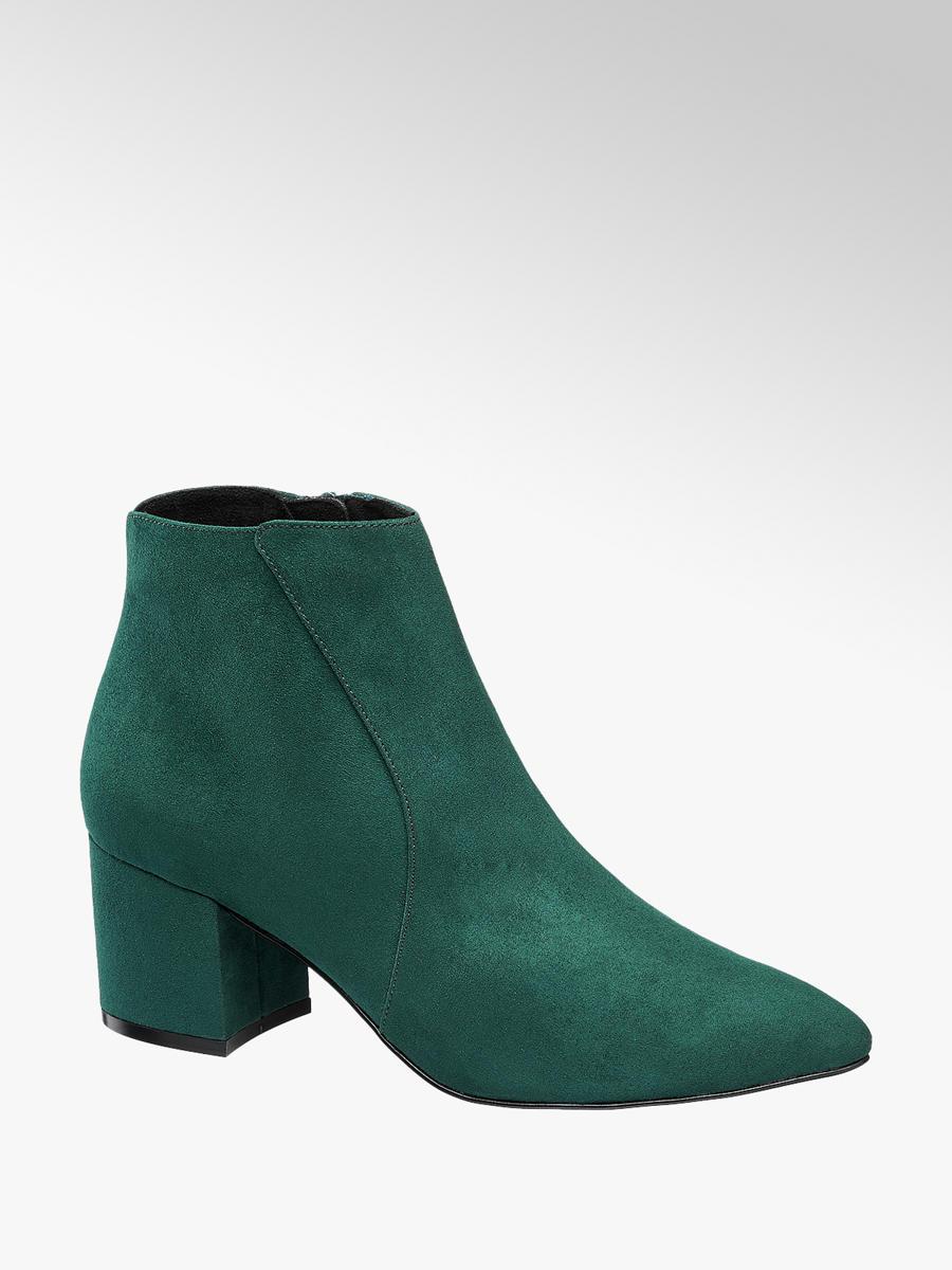new styles 9d975 246a3 Dark Green Vero Moda Jana Heeled Ankle Boots - Ladies