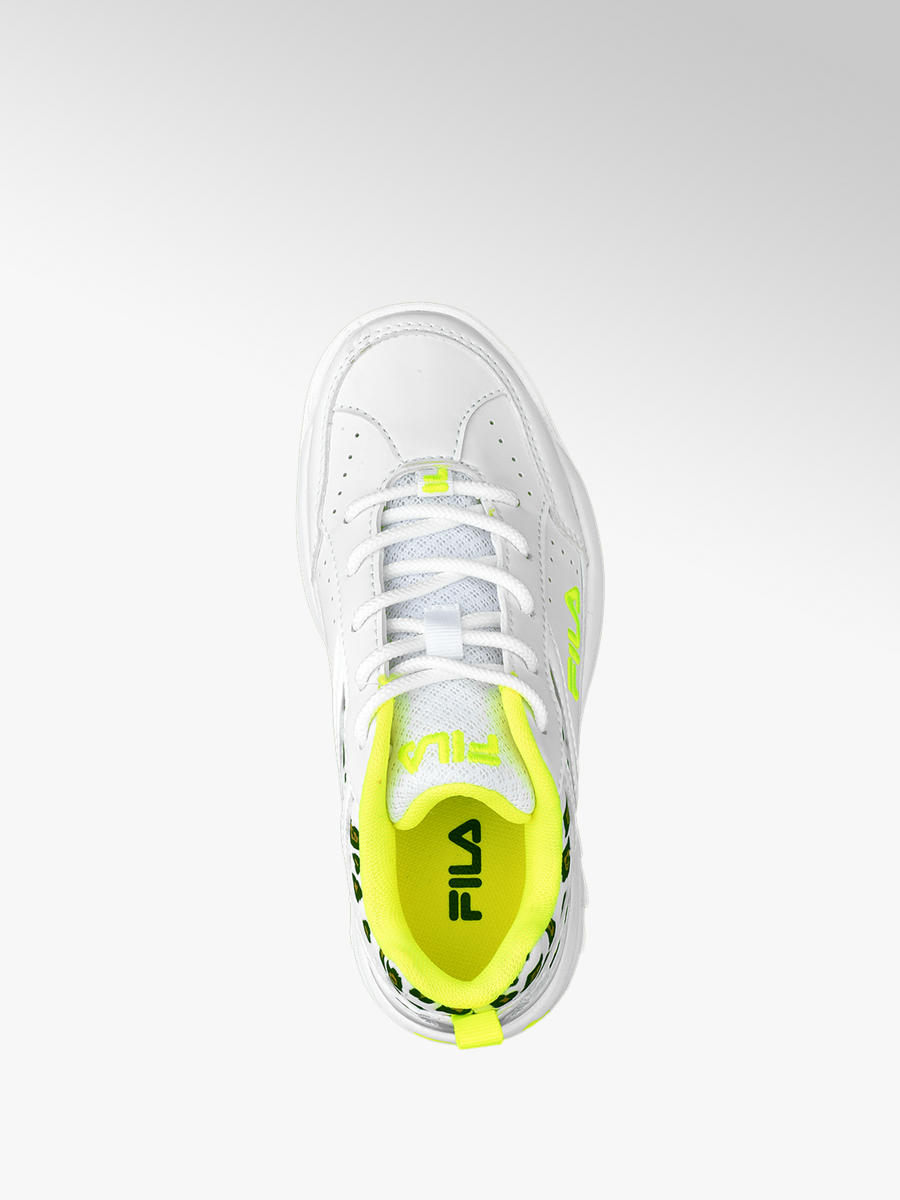 Witte sneaker neon panterprint Collecties Merksneakers