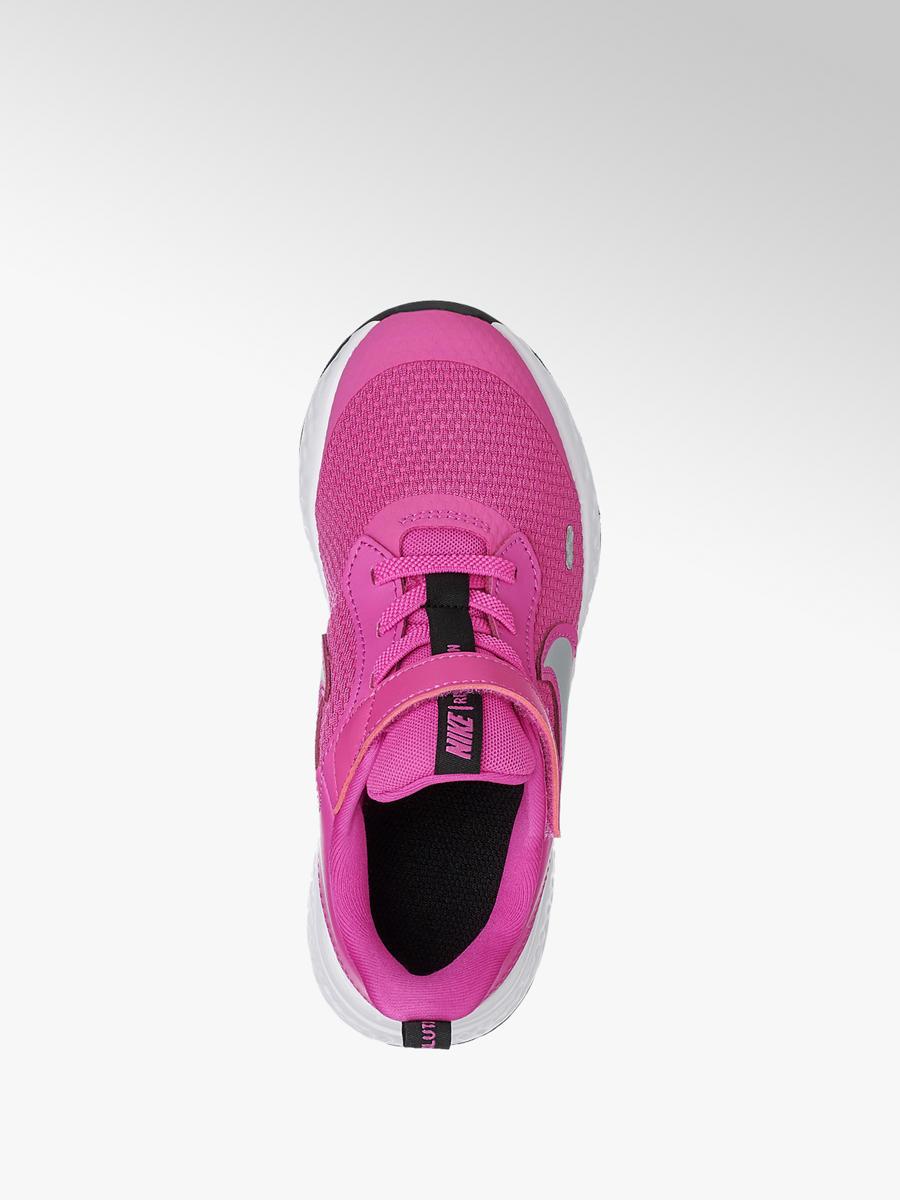 sneakersy dziecięce Nike Revolution 4 PS NIKE różowe Buty sportowe dziecięce różowe w Deichmann
