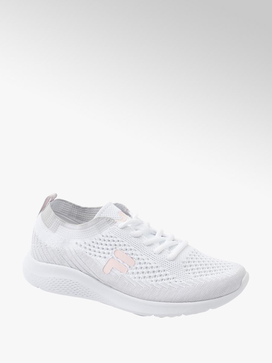 Ladies Fila White Grey Lace up Trainers Ladies