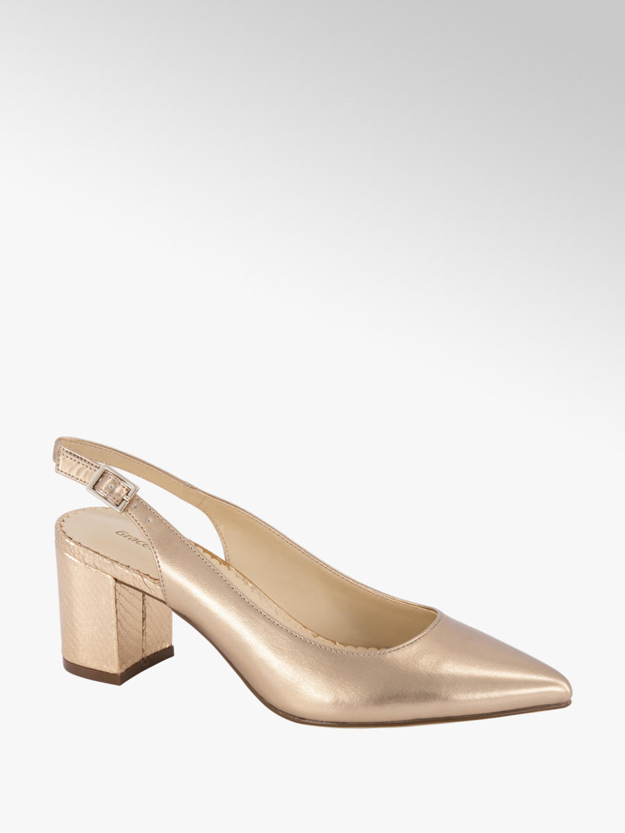 Rosé gouden pump Collecties Trends Metallic